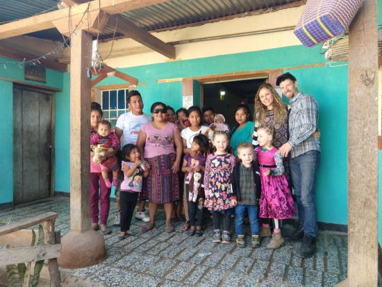 Visiting Rosa's family.